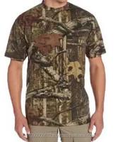 Military Short-sleeved T shirt/ woodland Camoufalge T-shirt / camouflage T-shirt 100% cotton