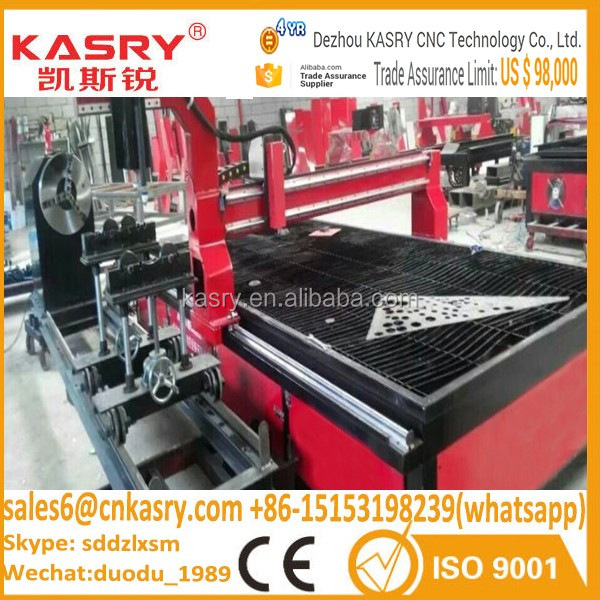 2040 Plasma Metal Cutting Machine Plasma Engraving Machinery Stainless Steel Plasma Cutter Mail: Krt-1325/1530mm Table Steel Plate Pipe Cnc Plasma Cutting