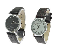 Unisex Wrist Watch PU with zinc alloy dial plated mixed 37-44x32x41mm 16-19mm Hole:Appr 1.5mm Length:Appr 9 Inch 5PCs/Lot Sold B
