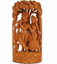 New Arrival 2015 Lovely Radha-Krishna Wooden Statue/Wood Statue/Hindu Religious Statue Indian Handicraft 2015