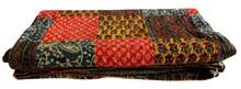 RTHKG-14 Wholesaler Handmade Small Patchwork Cotton Fabric Kantha Indan Traditional Bengali Gudari Bedspread Throw Manufacturers