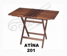 wood folding coffee table / wood table folding camping