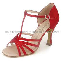 Fashional and comfortable Ladies Latin dance shoes red color 2015 collection for young girls