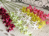 Spun Silk artificial flower with Iron mixed colors 88cm 12PCs/Lot Sold By Lot