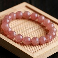 Strawberry Quartz Bracelet Round natural different size for choice Grade AAA Sold Per Approx 7.5 Inch Strand