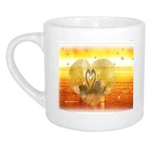 Wedding Gift 2.5oz ceramic mug with Swan image