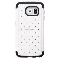 New Stylish High Quality Fashion Bling Diamond Hybrid Dual Layer Skin Shell Case For Samsung Galaxy S6 G9200 Hard Back Cover