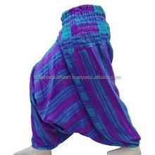 Yowomen шаровары широкий мешковатые штаны узоров аладдин индийского йога брюки