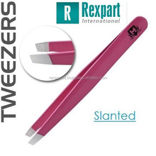 Slanted Tweezers Women Pink Eyebrow Tweezers