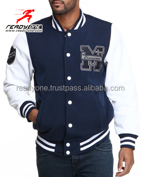 unisexe style am ricain baseball vestes varsity letterman university college baseball jacket. Black Bedroom Furniture Sets. Home Design Ideas