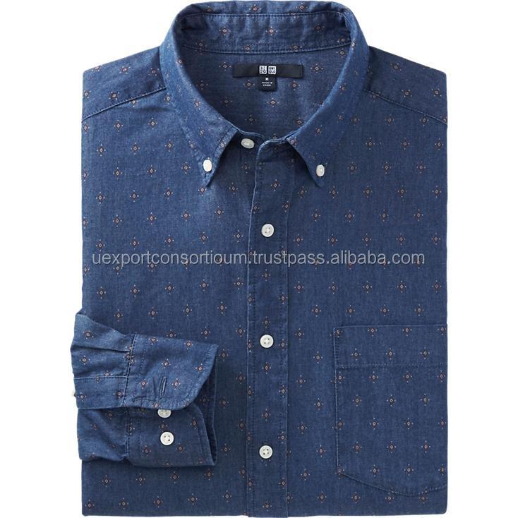 Best design mens denim shirt mens clothing 2015 buy for Buy denim shirts online