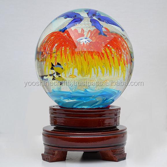 G luminous glass ball round crafts