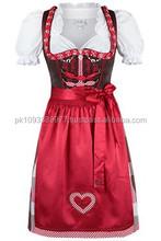 New Style German,Springfest,Trachten,Oktoberfest,Halloween, New Style German Dirndl,3-pcs pink dress.5