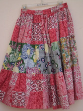 multi colored printed short skirt with soothing colors
