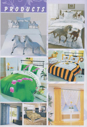 Textiles, Fabric, Bed sheet, Duvet Set, Quilt Set, Comforter Cover, Coverlets, Mattress Cover, Pillow, Sham pillow, Apron, Napki