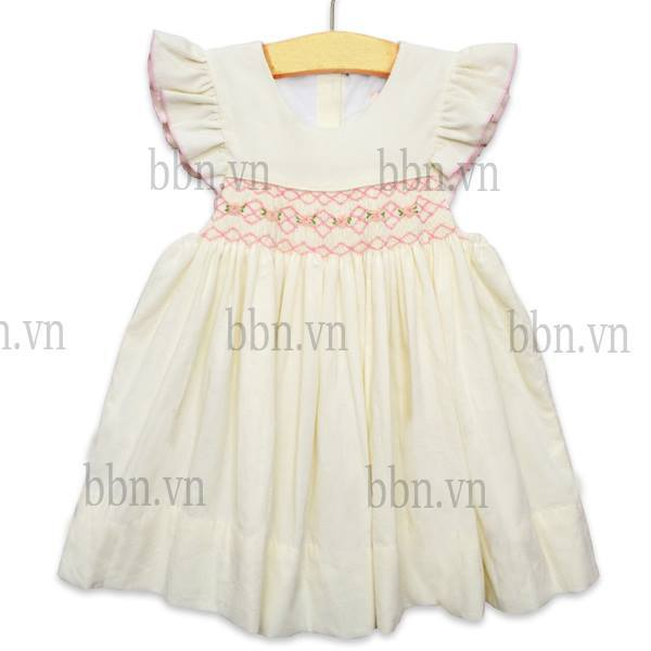 Hand Smocking Patterns Blue Dress With Hand Smock