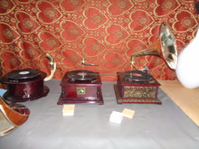 gramophone record player , mini compo radio , kids record player ,wooden record player