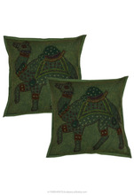 """16"""" Ethnic Home Decorative Cushion Cover Adorn with Embroidery 2pcs set"""