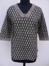 محيك ملابس بلايز و تيشرت موضة جديدة/ 100 sanganeri كتلة ٪ القطن قمصان طبعت