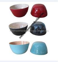 100% enrolled bamboo bowl, handmade salad bowl Vietnam