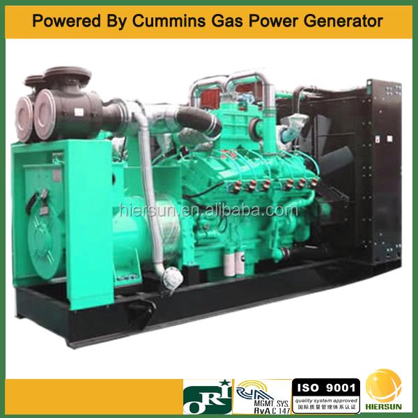 50hz 60hz AC 3 phases 983kw bio Gas Generator