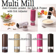 Electric pepper mill gift item elegant design in a variety of colors