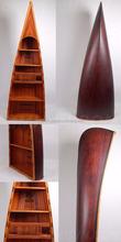Canoe Book Shelf Antique - handmade model ships