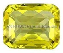 Faceted Stone Natural Lemon Quartz Mixed Size Stone Natural AAA Brazil