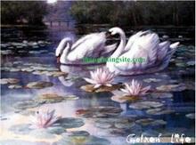 Hot sell wholesale handmade Swan DIY oil painting