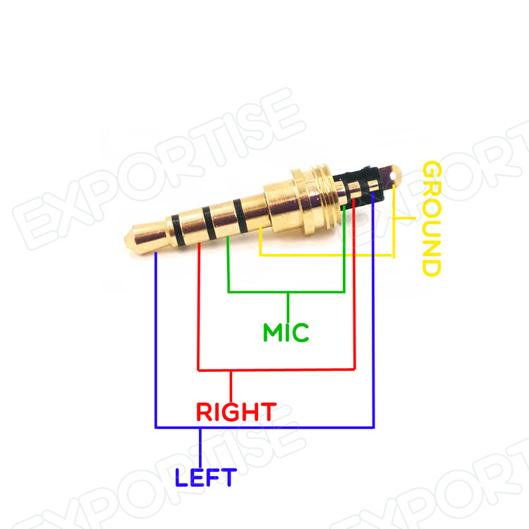 copper gold plated 2 5mm 3 5mm 4 pole male repair earphones stereo rh alibaba com