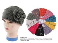 Wholesale Ladies' Knit Headbands Ear Warmer Flower