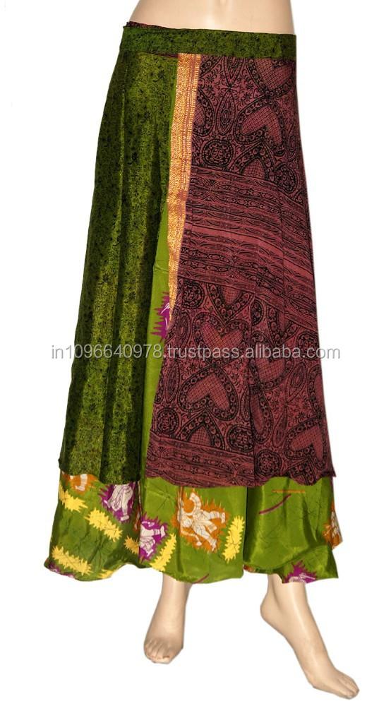 Wraparound Silk Skirt 41