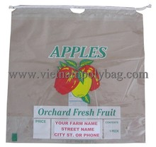 Tie handle plastic bag for fruit