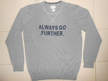 Men's Solid with Cross Over lock Stitched on neck Sweter