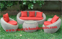 VIET STYLE POLY RATTAN OUTDOOR /GARDEN SET FURNITURE WITH DISCOUNT PRICE
