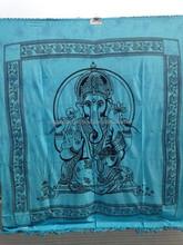 ganesha wall hanging hindu elephant god painted ganesh sequin tapestry/tapestries decor art bed sheet