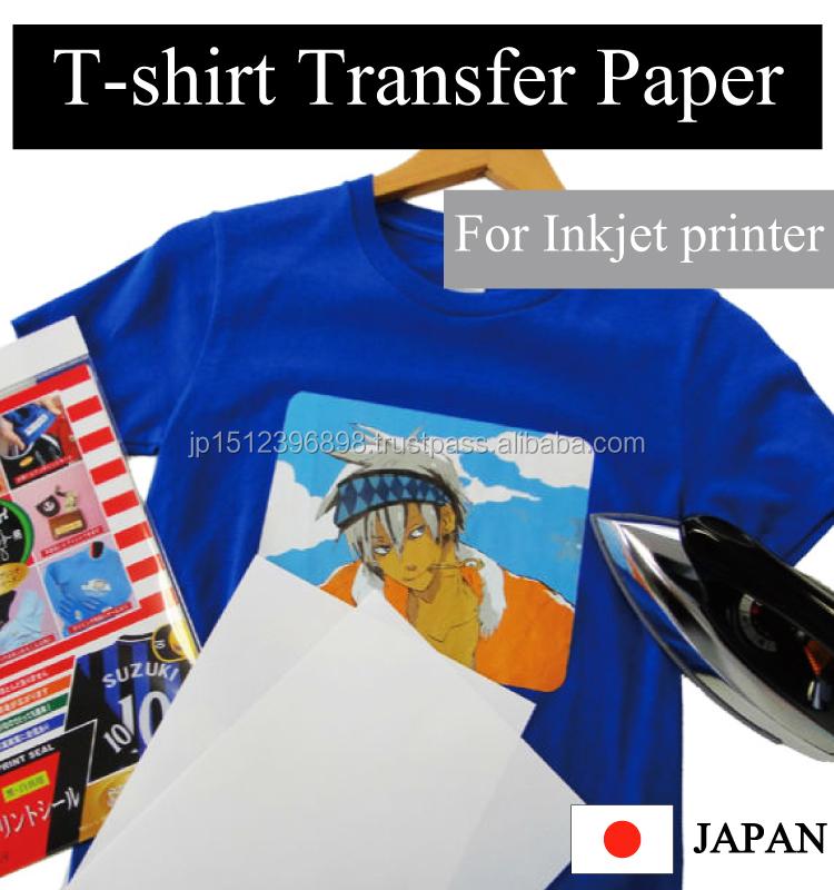 High quality no formalin iron on t shirt transfer paper for Best quality t shirt transfer paper