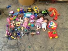 Toys, plastic, hard, gently used: Little, medium and large sizes