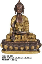 The Medicine Buddha in Golden and Brown Hues