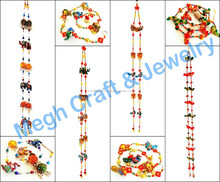 Diwali special home decor wall hanging-Animal Themed door hanging-handmade pearl beaded indoor Toran-Wholesale Gujarati Toran
