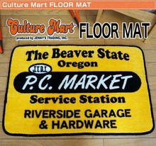 Popular and Japanese design logo mat ( CULTURE MART ) for interior use , other design also available