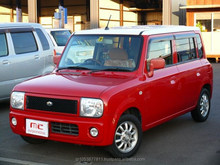 used SUZUKI Alto Lapin red 2003 right hand steering from Japan