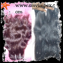Hair Weaving Online Wholesale Cheap Virgin Indian temple hair weaving.water wave hair extension from india