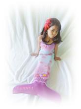 kids mermaid tail swimsuit costume