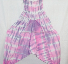 BRCK- 47 Pink Die Tie fabric Hand Block Alibaba Hippie Harem pant Trouser for Unisex Garment Manufacturer from Jaipur