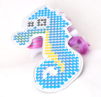 Hama Fuse Pegboard Plastic Seahorse 5mm DIY fuse pegboards & with fuse beads template & transparent white 90x155mm 30PCs/Lot So