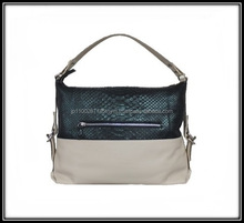 Python and calf genuine leather casual style bag hands women