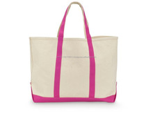 custom durable large shopping canvas bag for long usable