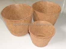 Coconut Coir fiber Pots and Coir Seed Germination cup/ Coir Fiber hanging Basket suppliers for Garden and Nursery from Tamilnadu