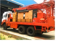 GETECH WATER WELL DRILLING RIG/high performence deep hole WATER DRILL/truck mounted hydraulic drilling rig water